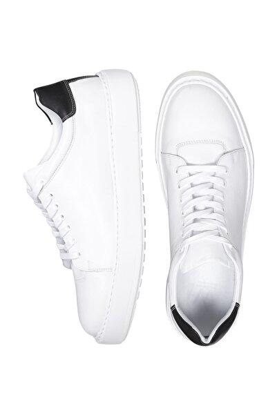 W Collection Erkek Beyaz Deri Sneakers