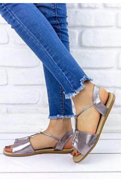 Erbilden Kadın Platin Sandalet