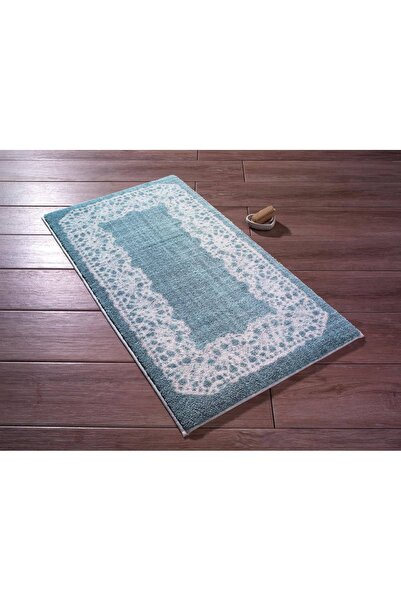 Confetti Lace Antik Mavi 57x100cm Banyo Halısı