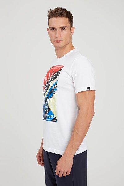 adidas Erkek Beyaz Baskılı Spor T-Shirt FM6105