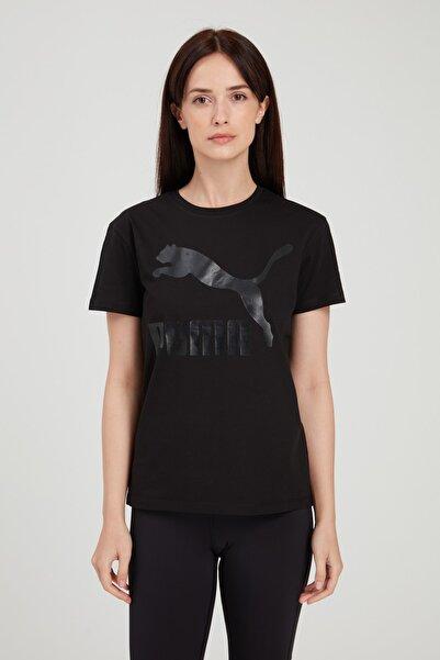 Puma Kadın Siyah Classics Logo Tişört 530876 51