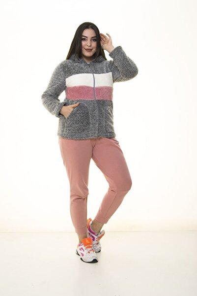 Modayız Kadın Gri Sweatshirt 30y 1406