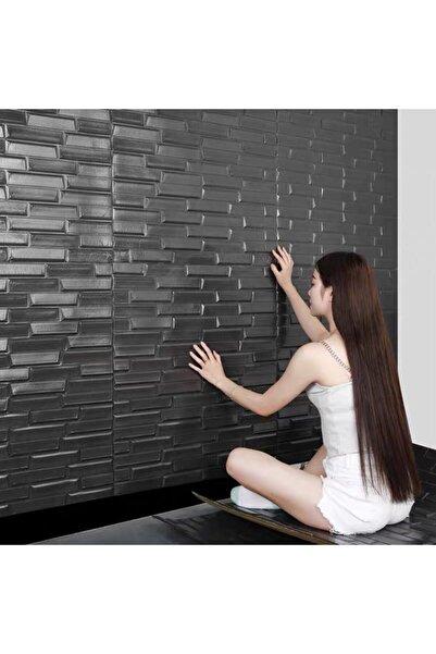 Renkli Duvarlar Nw66 Siyah Opak Kendinden Yapışkanlı Duvar Paneli