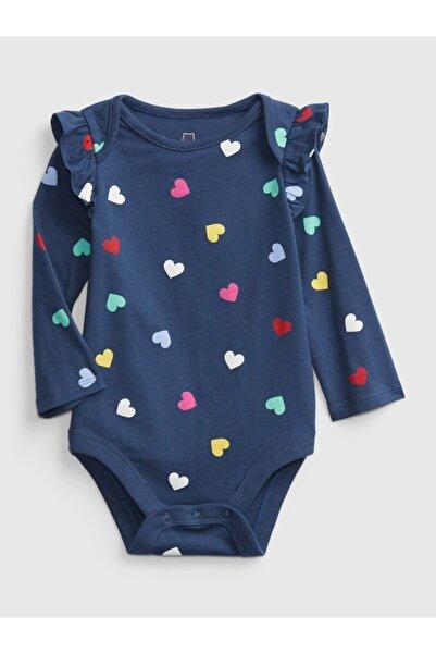 GAP Baby Kız Bebek Lacivert Desenli Body