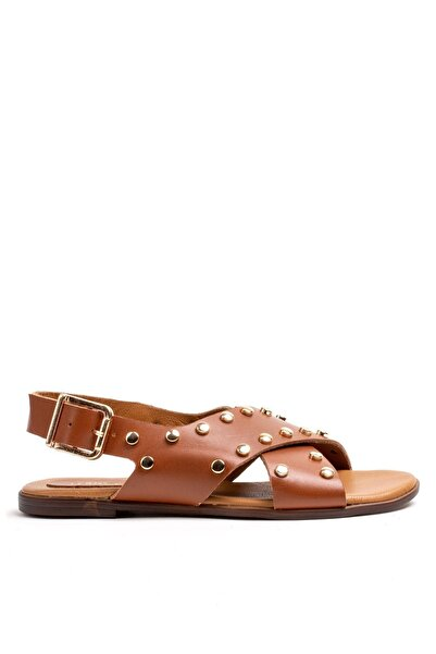 Louis Cardy Kadın Taba Thassos Vageta Hakiki Deri Sandalet