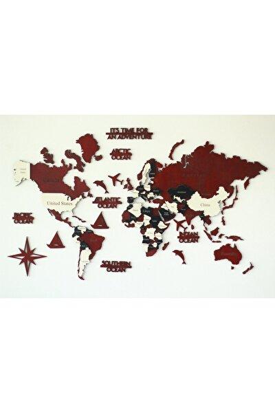 Colorfull Worlds 3 Boyutlu Ahşap Dünya Haritası, Ahşap Duvar Dekoru, Duvar Tablo, Gerçek Dünya Haritası,dekorasyon