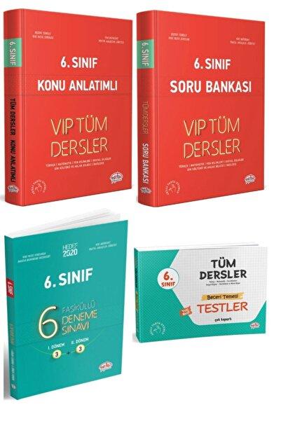Editör Yayınları 6. Sınıf Tüm Dersler Vip Konu Anlatımlı + Soru Bankası + Yaprak Test + 6 Fasiküllü Deneme 4 Lü Set
