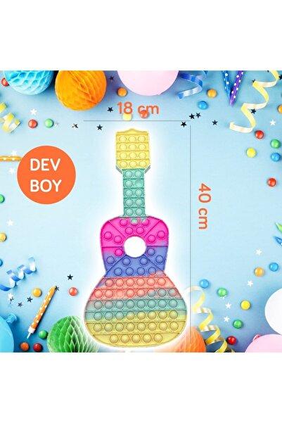 OKFİS Pop It Stres Oyuncak Dev Gitar Pastel 42x18cm