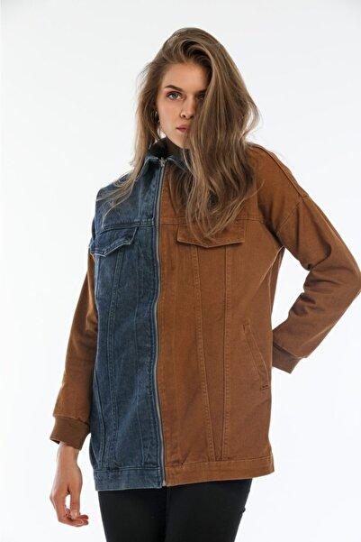 asurboutique Asur Boutique Kadın 2 Renk Fermuarlı Kot Ceket