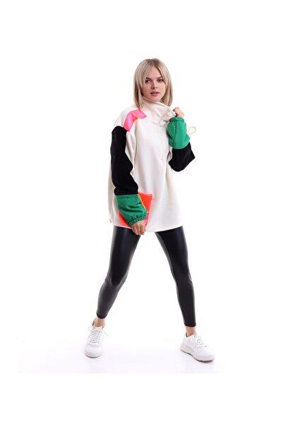 BİRMODADAN Cep Detay Boğazlı Sweatshirt