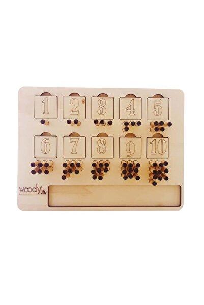 WoodyLife Montessori Rakamları Ve Sayıları Öğreniyorum Domino Oyunu Seti