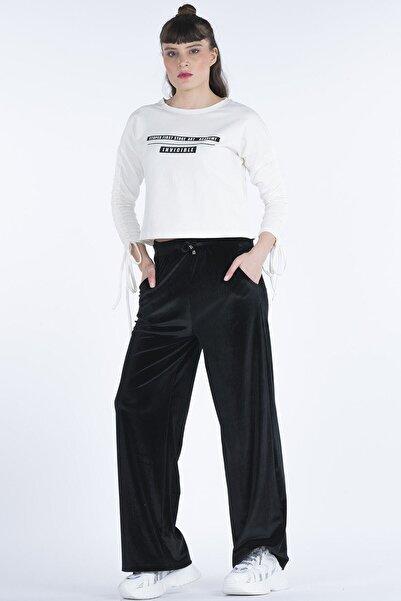 BEBE PLUS Kadife Kadın Pantolon 23271