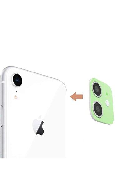 MobilCadde Iphone Xr To Iphone 11 Çeviren Yeşil Kamera Koruyucu