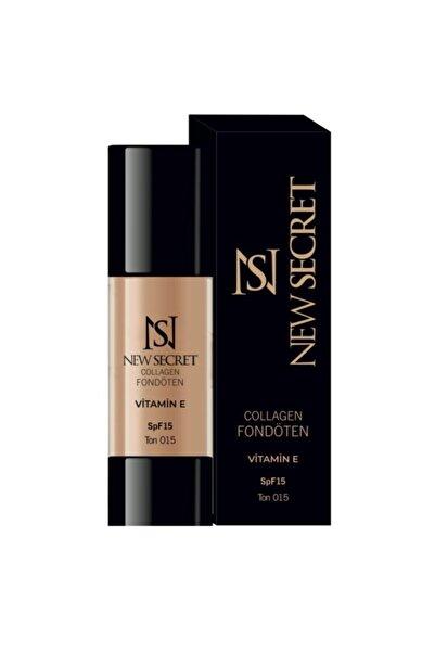 New Secret Cosmetic Collagen'li Ve Güneş Koruyuculu Fondöten -