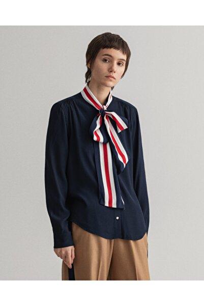 Gant Kadın Lacivert Regular Fit Uzun Kollu Bluz