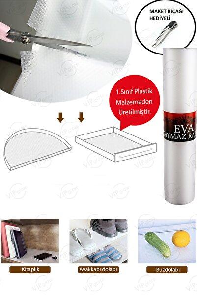 vipgross Eva Kaymaz Şeffaf Dolap İçi Örtüsü / Kaydırmaz Raflık Çok Amaçlı Mutfak Raf Örtüsü 45 X 10