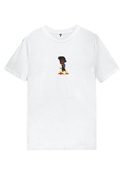 GAMING Phoenix Tasarım Baskılı Kısa Kollu Beyaz Gamer Tişört