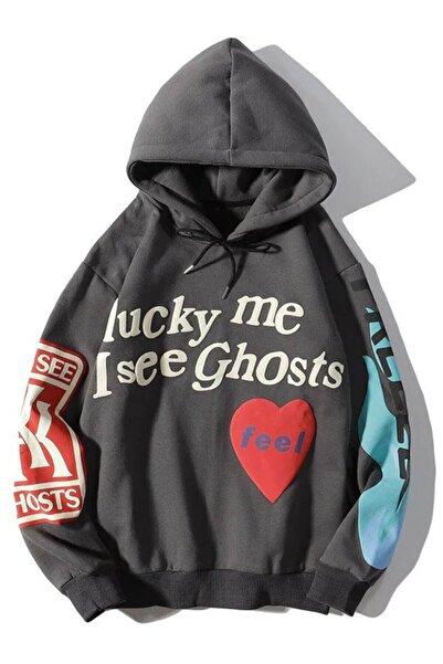 Trendiz Unisex Kanye Oversıze Sweatshirt Antasit Tr30027