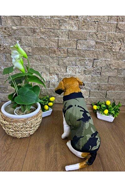 Buddy Store Kedi & Köpek Elbiseleri Asker Desenli Sevimli Gezdirme Giysileri- Yeşil