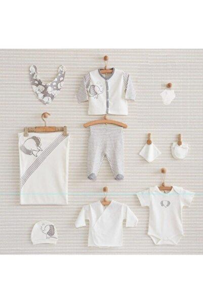 Nenny Baby Erkek Bebek Gri  10'lu Yeni Doğan Hastane Çıkışı