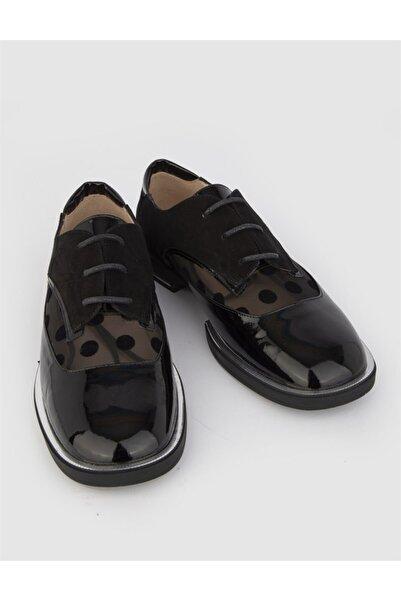 İLVİ Aneta Kadın Oxford Ayakkabı Siyah Rugan