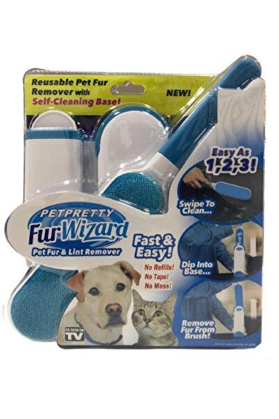 Pet Pretty Fur Wizard Kendinden Temizlemeli Tüy Toz Toplama Fırça Seti Mavi Renk