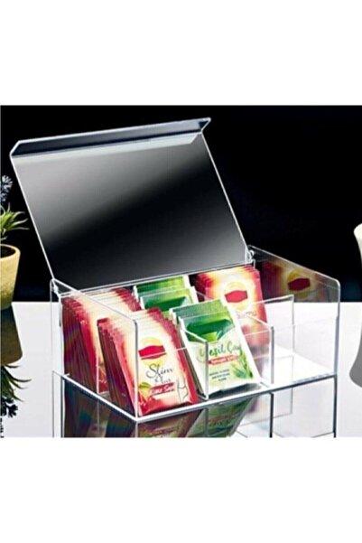 Box Up Çay Kutusu 6 Bölmeli Kapaklı Poşet Bitki Çayı Saklama Kabı Ft-055