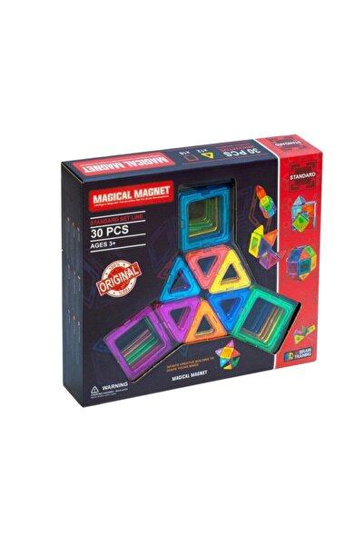 Magical Magnet , Mıknatıslı, Manyetik 3 Boyutlu , Yapı Ve Tasarım Lego Eğitim Seti, 30 Parça