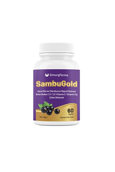 SAMBUGOLD Kara Mürver Beta Glukan C Vit D Vit Çinko Vitamin 60 Tablet