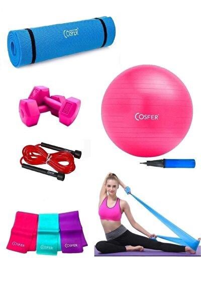Cosfer Vegatekno 6 Parça Pilates Ve Yoga Seti Fuşya