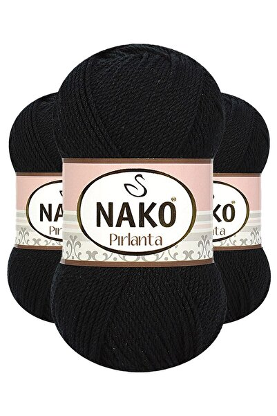 NAKO Pırlanta 00217 (Siyah) Amigurumi El Örgü Ipi/yünü 1 Adet