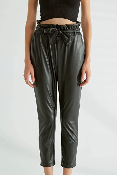 CİX MİX Kadın Deri Pantolon