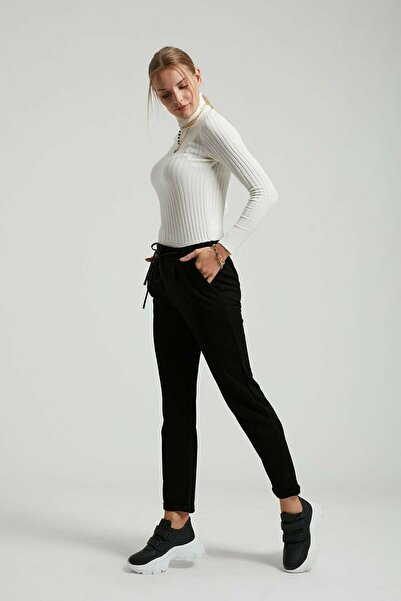Batik Kadın Düz Casual Siyah Pantolon