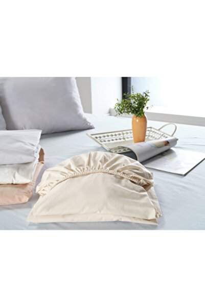 Doqu Home New Cotton Fitted Çarşaf Çift Kişilik Krem