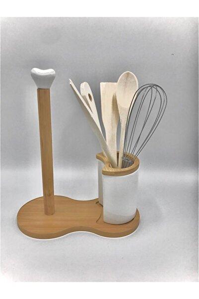 çerçi Porselen Bambulu Kağıt Havluluk Kaşıklık Pj25