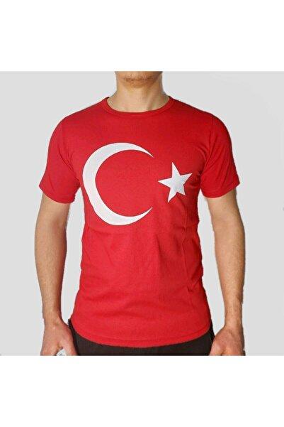 Ünal Giyim Unisex Kırmızı Ay Yıldız Baskılı T-Shirt