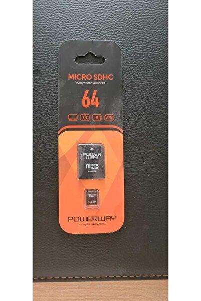Micro Powerway 64 Gb Sdhc Hafıza Kartı