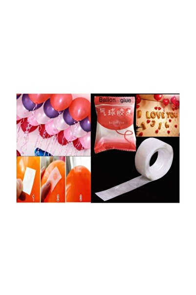 ELITETIME 100 Adet Balon Yapıştırma Aparatı Sticker Damla Modeli ( 1,2 Cm)