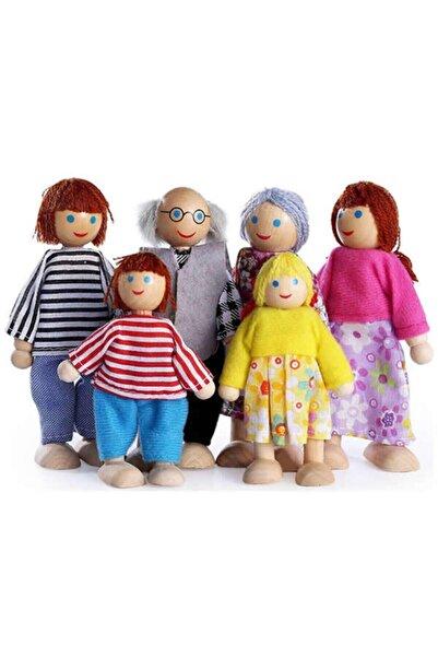 Zeki Karga Ahşap Minyatür Bebekler Aile Seti 6 Adet