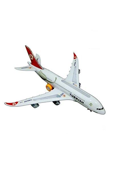 CİMCİME OYUNCAK Ch133tk Thy Airbus A380 Işıklı Sesli & Yürüyebilen Oyuncak Uçak Jumbo Boy