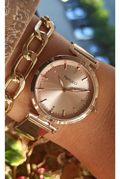 Ferrucci Rose Modern Kadın Kol Saati+bileklik