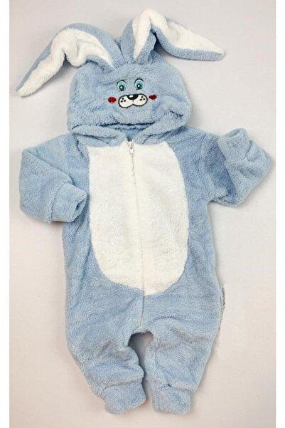 MiniStand Bebek Tavşanlı Peluş Tulum Mavi