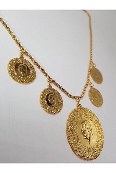 barış gold altın kaplama 22 Ayar Altın Kaplama Beşi Bir Yerde Kafalı Kolye