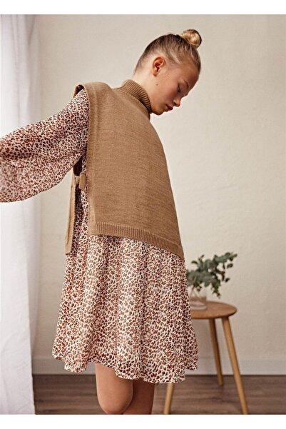 MAYORAL Kız Çocuk Uzun Kollı Şifon Elbise