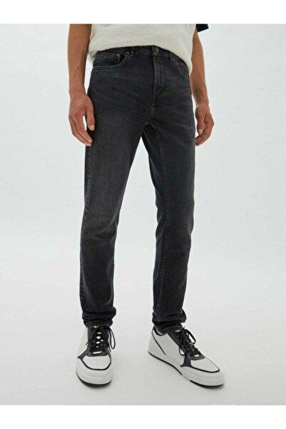 BPM Basic Slim Erkek Kot Pantolon Soluk Siyah