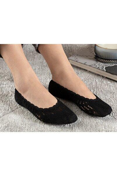 English Home Fairy Pamuk Kadın Babet Çorap Siyah
