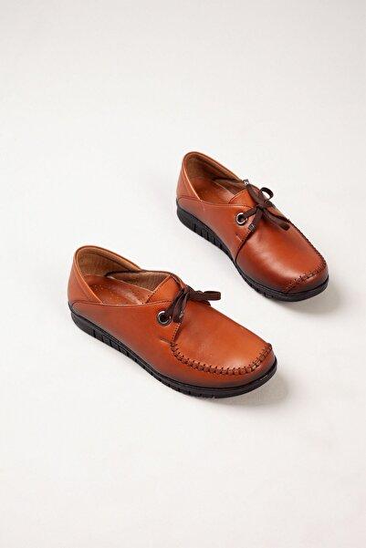 DERİMİSS Kadın Taba Hakiki Deri Ortopedik Ayakkabı • A212kıvk0012