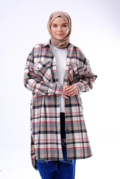 GÖMLEX Ekose Kareli Oduncu Gömlek Tunik