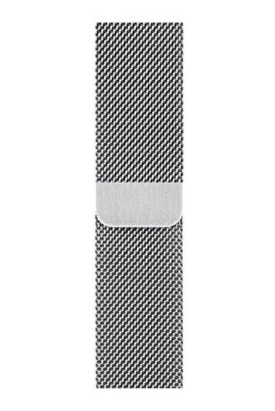 Apple Watch Hasır 38mm/40mm Milano Kordon Çelik Kayış Sılver/gumus