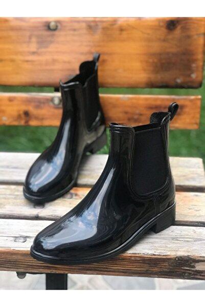 LAURELS Siyah Kadın Yağmur Botu